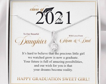 Graduation Gift for Her, Graduation Necklace for daughter, NieceTo Our Beautiful Daughter