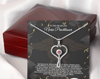 Gift For Nurse, Gift For ARNP, To The Gratitude Np Gift, Nurse Practitioner Stethoscope Necklace, Appreciation Gift For Nurse