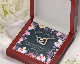 To My Stepdaughter, Step Daughter Gift from Step-Mother, Bonus Datughter Gift From Bonus Mom, Jewelry To Step Daughter