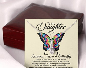 To My Daughter  Lesson From Butterfly, Motivational Gift for Daughter, Empathy Gift to Daughter, Encouraging Gift from Parents
