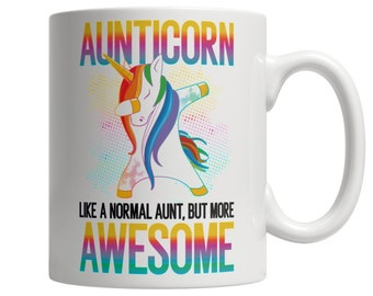 Aunticorn  White Mug