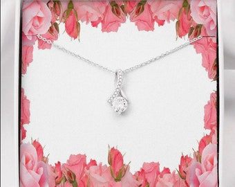Valentine's day Gift for her  Feature Wife's Gift for Valentine's day dainty clear crystals