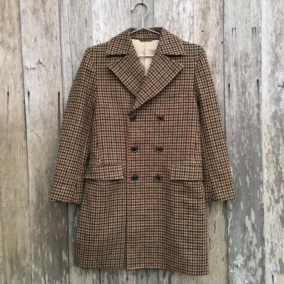 Harris Tweed Wool Coat