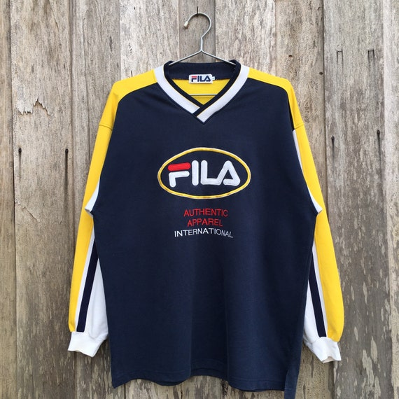 Vintage Fila V-Neck Sweatshirt
