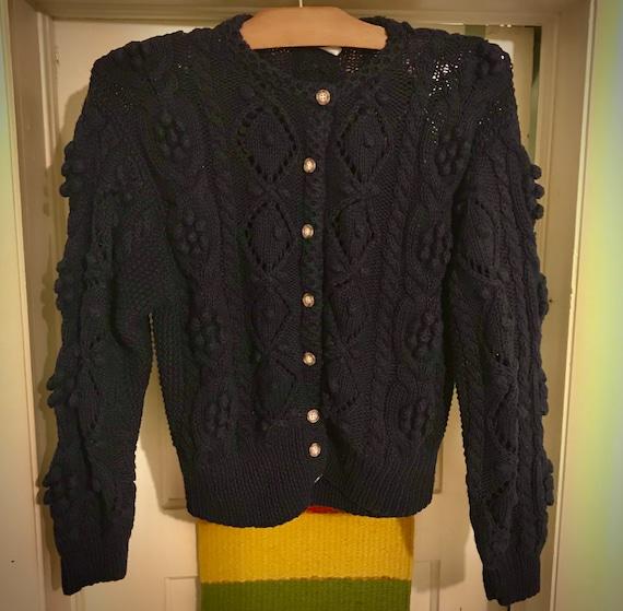 J.G.Hook Vintage Popcorn Cardigan Sweater