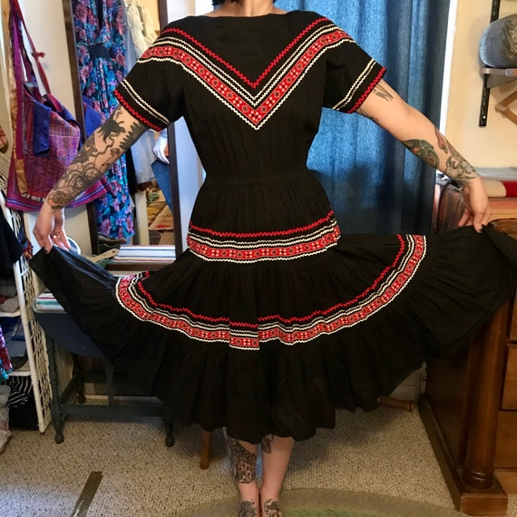 Vintage Mexican Cowgirl Dress