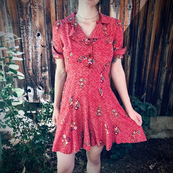 40s vintage dress - image 4