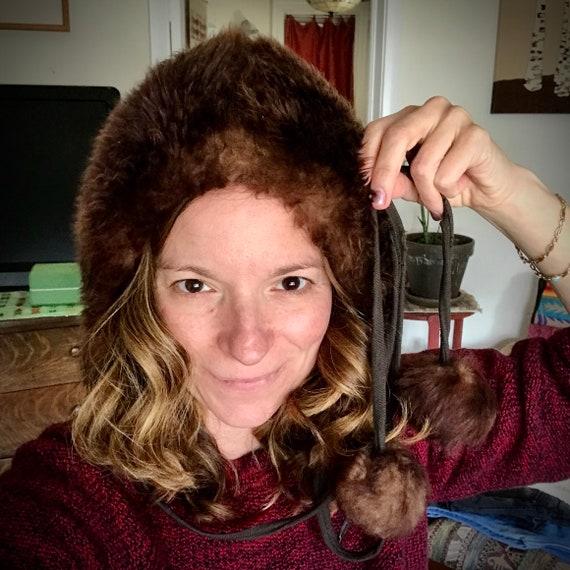 60s Vintage Sheepskin Fur Hat - image 2