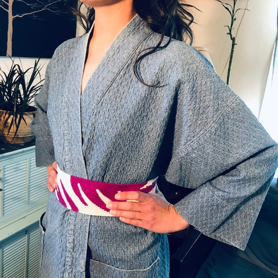 Handmade Demin Quilted Robe/Coverup