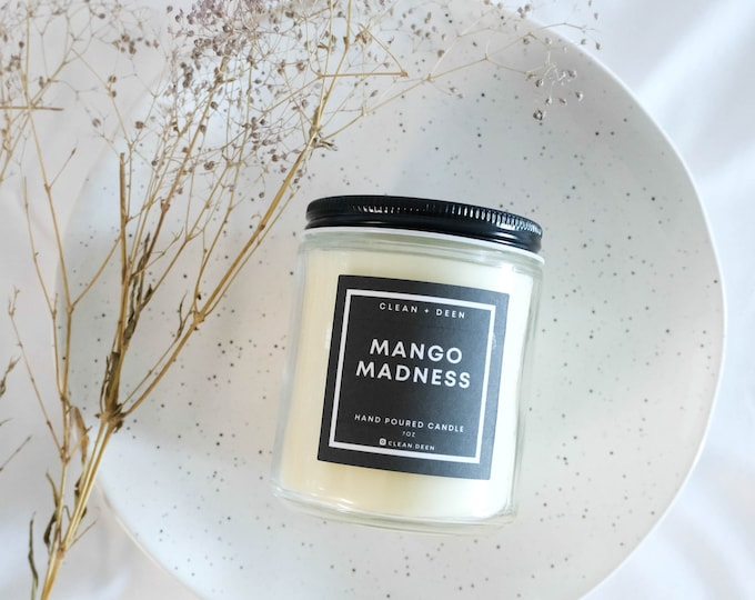 Phthalate Free Housewarming Handmade Candle Gift for Her Mango Madness Scented Candle Home Decor Soy Blends Candle Candle