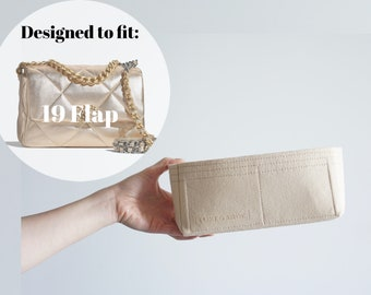 19 Flap Bag Organizer Insert  / C H A N E L 19 Flap Purse Organizer Insert / Purse Shaper Liner Protector [bag NOT included]
