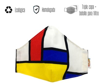 Mondrian approved eco-mask
