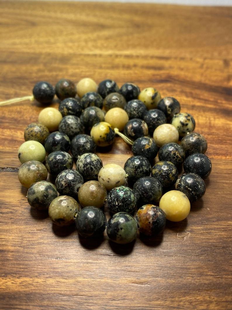 Round 8mm 44-48 pieces Sensational Natural Black Turquoise Jasper Gemstone Beads for JewelryCraft Making
