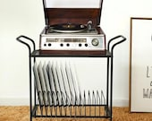 Black Metal Record Player Stand