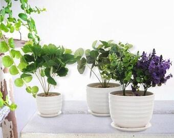 Set Of 3 Planters Etsy