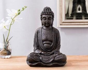 Resin Buddha Statue Etsy