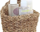 6.5-Inch Handmade Weave Hanging Storage Basket, Multipurpose Small Indoor Display Bin