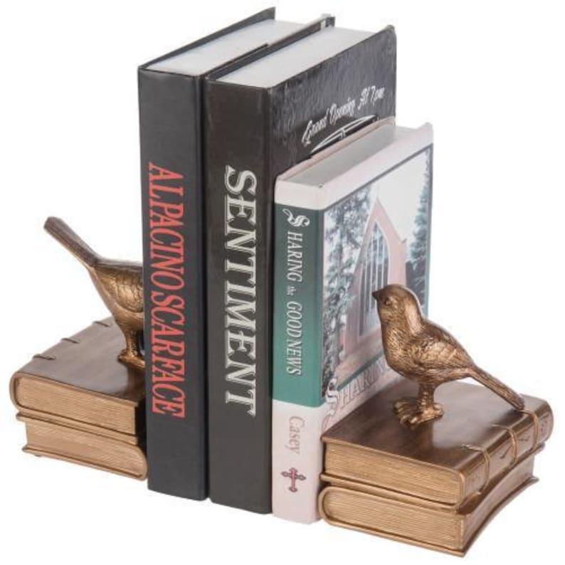 Vintage Brass Bird Bookends image 0