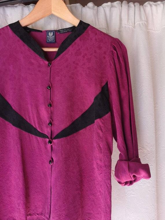 Emanuel Ungaro vintage silk blouse 80s tg. 42nd Un