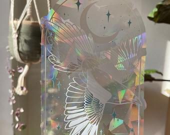 Magpie suncatcher, Bird window sticker, Rainbow maker