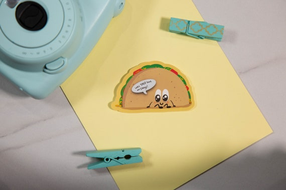 Emotional Support Taco Sticker