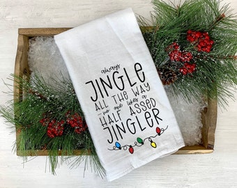 Nobody Likes a Half Assed Jingler Christmas Home Decor Canvas Sign Fun Festive Wall Decor for the Holidays. Always Jingle All the Way