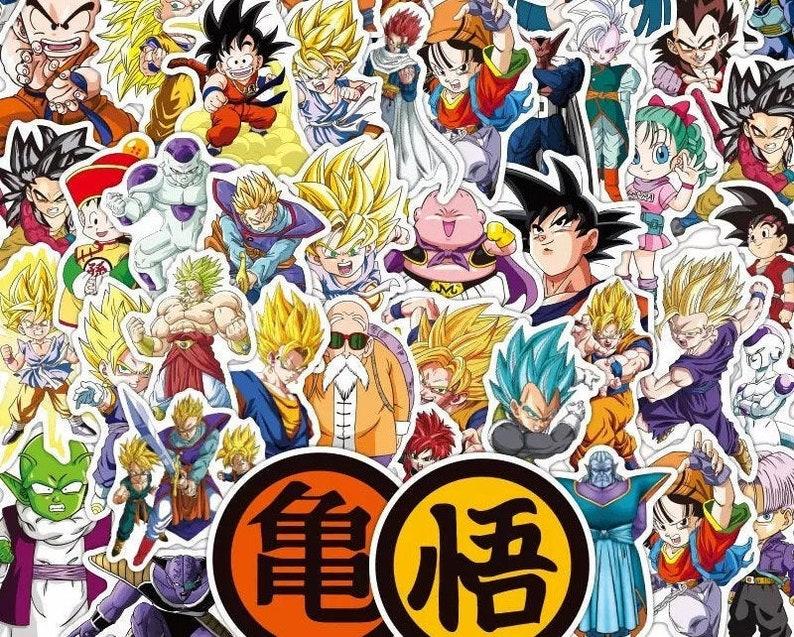 Lot Japanese Goku Anime Random Sticker Pack Guitar Skateboard Laptop Luggage Dragon Ball Stickers 50100 PCS Pack Vinyl Waterproof