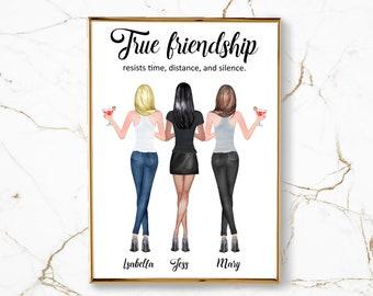 Three Best Friend Etsy