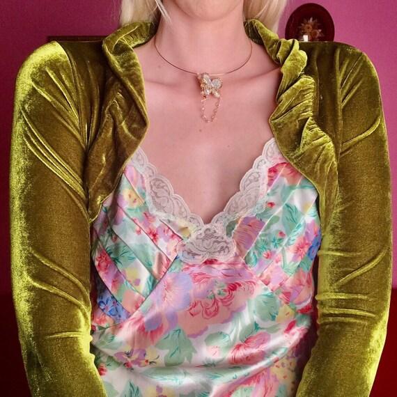 Victoria's Secret gold label floral slip dress