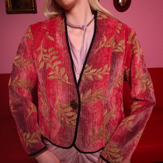 Vintage reversible brocade jacket