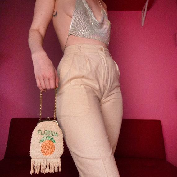 Oatmeal linen blend trousers - image 2