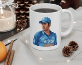 MS Dhoni White Mug 11oz