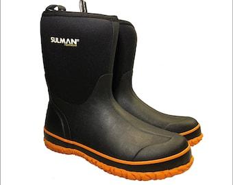 Rubber Boots, Funky Wellies, Sulman, Neoprene, Waterproof, Rainwear, Rainy Weather, Festival, Neoprene Boots, Fishing, Hunting, Outdoor