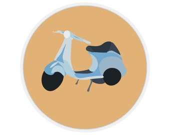 Lambretta 42 Self Adhesive Stickers Blank For Address Labels//Gift Tags//Party Bag