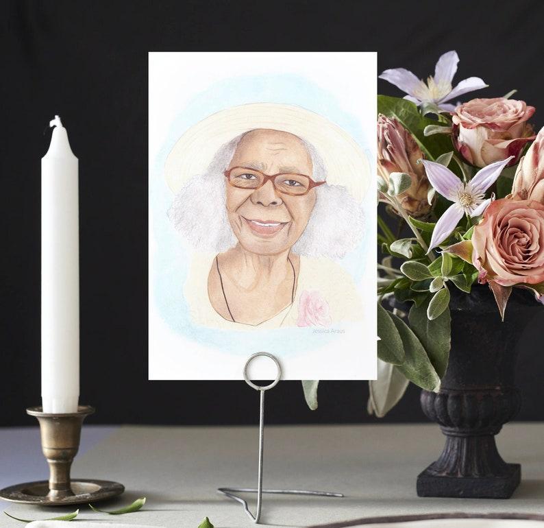 Memorial Portrait Hand Painted In Loving Memory Portrait of image 0