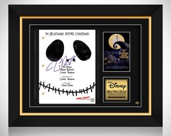 The Nightmare Before Christmas Movie Script Limited Signature Edition Studio Licensed Custom Frame