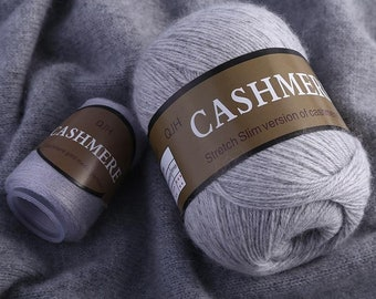 2ply handcrafted cashmere yarn Harvested by combing from our goats Weiss Yeti Grigno and Coffee. Madre
