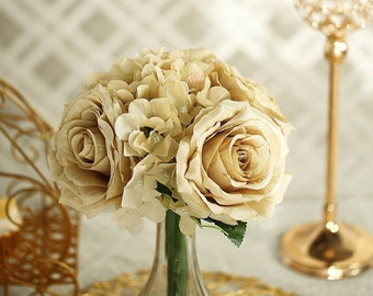 Silk Artificial Champagne Roses Etsy