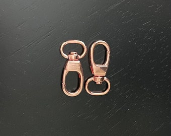 fin0965 for Key Rings 30 Rose Gold Swivel Connector Links Dog Leashes 19x9mm