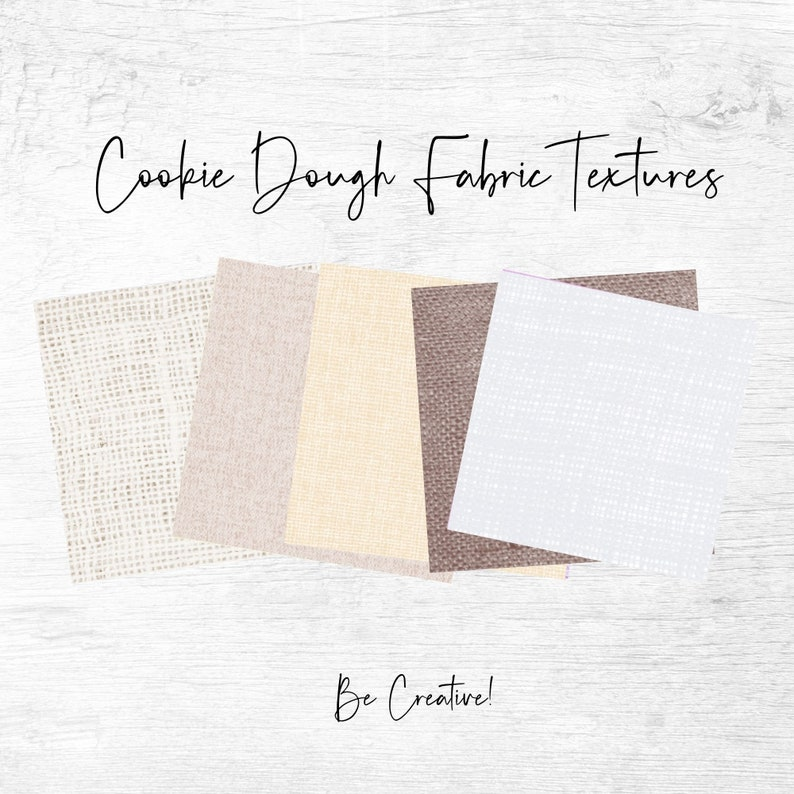 Set of 20 Papers For Personal /& Commercial Projects Digital Download Cookie Dough Fabric Textures Background Papers