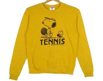 Vintage 90s Rainbow Snoopy Tennis Graphic Tee Size M