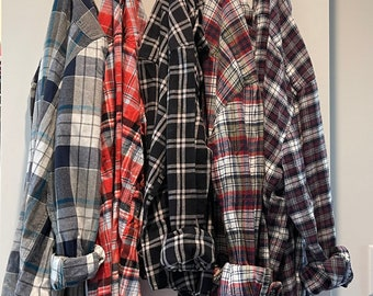 MYSTERY vintage 90s style flannel mystery 80s 70s s girl mens grandpa menflannel shirt grunge button up button down cute jacket out where
