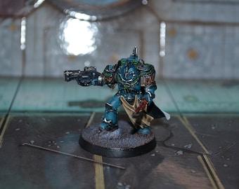 Alpha Legion Praetor in Cataphractii Terminator Armour