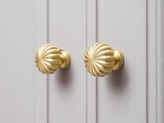 Peacock Shape Door Handle Golden Brass Victorian Style Wardrobe Door Handle Dec