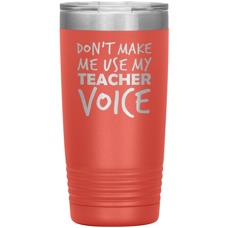 Teacher Voice Laser Etched Tumbler Friend Gifts Birthday Gifts Funny Tumblers Surprise Gift Companion Gift