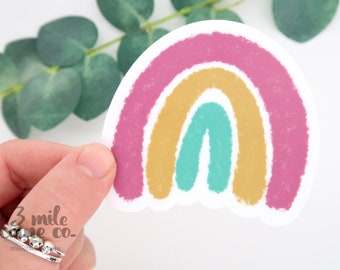 Signature Colors Rainbow WATERPROOF Sticker | Weatherproof Hand Drawn Encouragement Inspiring Uplifting Colorful Cute Art