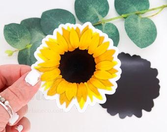 Sunflower Magnet | Floral Bright Yellow Flower Illustration Fridge Accessory Refrigerator Accessories Dorm Locker Decoration