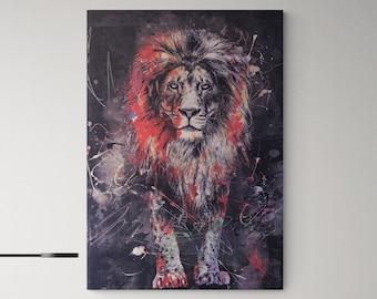 Lion Canvas Etsy