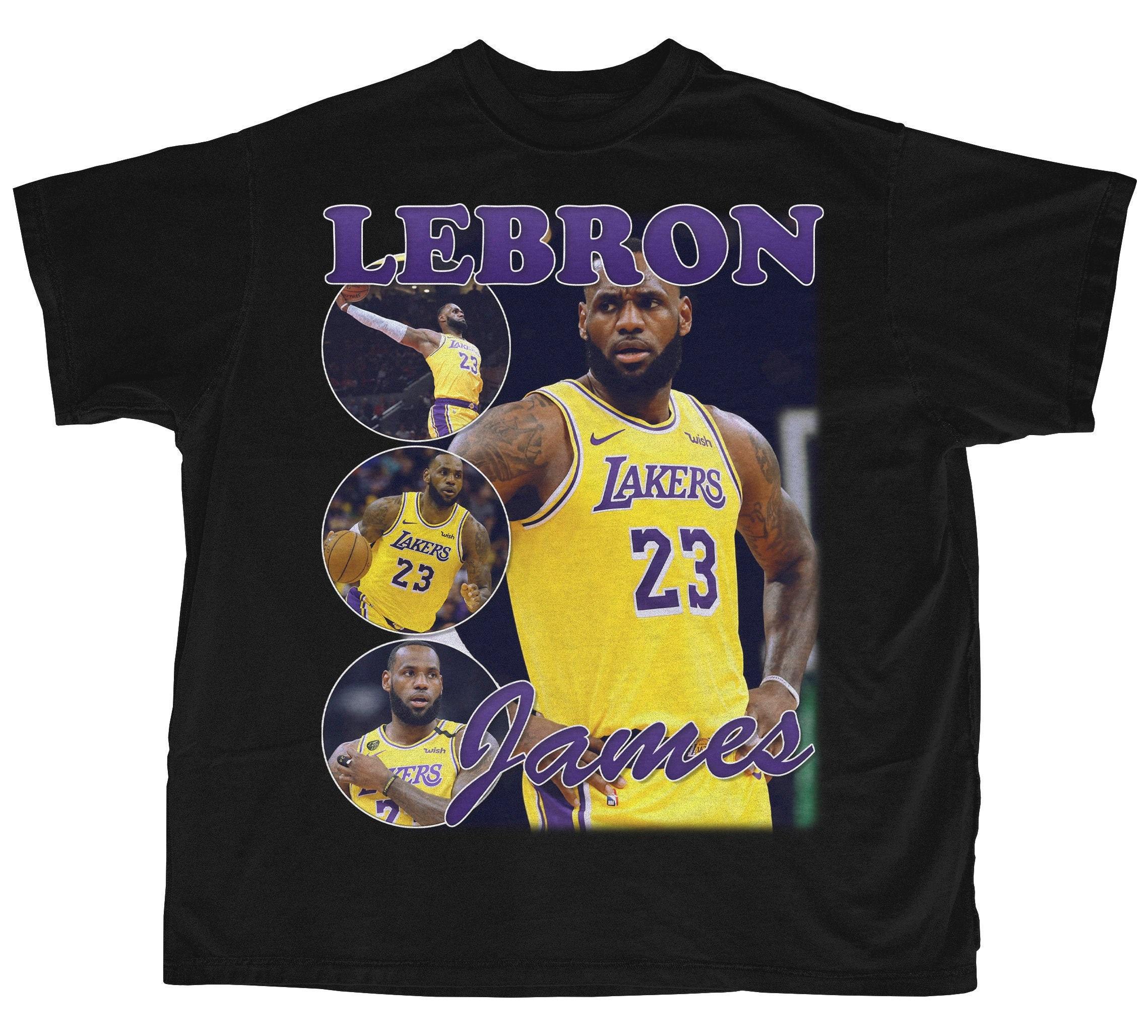 Lebron James Shirt   Bootleg Rap Tee   Short-Sleeve Unisex Black Vintage Style T-Shirt