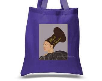 Melanin Proud Beach Bag with Beyonce Quote